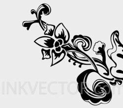 Hand Drawn Floral Element
