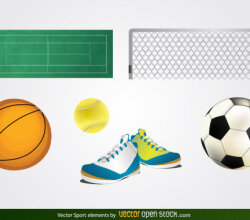 Free Vector Sport Elements