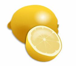Fresh Lemon and Lemon Slice Realistic Vector Illustration