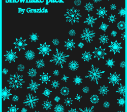 Vector Christmas Snowflakes Graphics