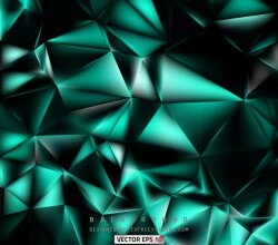 Abstract Black Turquoise Polygon Pattern Background