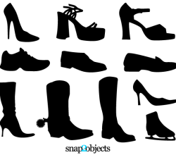 Vector Shoe Silhouettes