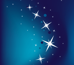 Vector Abstract Blue Background with Stars