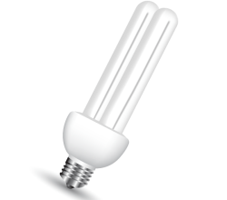 Vector Energy Saving Light Bulb