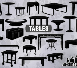 Vector Furniture Silhouettes Free