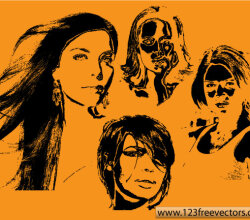 Women Face Vector