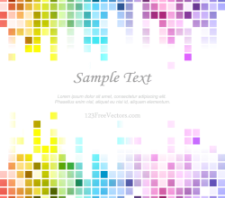 Rainbow Tile Background Vector