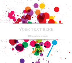 Vector Colorful Grunge Splashes Banner