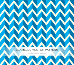 Light Blue Seamless Zigzag Pattern Vector