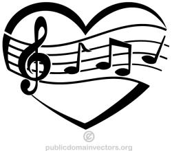 Vector Music of Love Heart