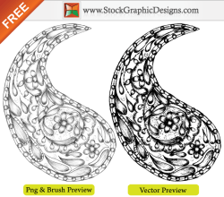 Free Vector Sketchy Hand Drawn Paisley Designs