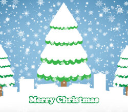 Winter Snowy Day Free Vector Graphics