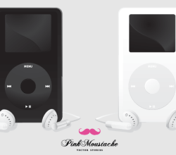 Apple iPod Black and White Vector Free