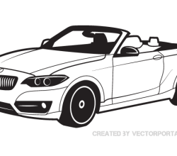 BMW Car Vector Image