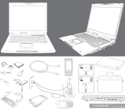 Vector Notebook Accessories