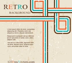 Vector Abstract Grunge Retro Design Background