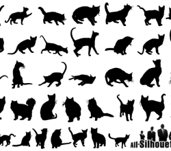 Free Cats Vector Silhouettes Images