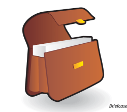 Briefcase Icon Vector Free