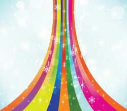 Colorful Snow Background Free Vector