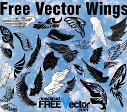 Free Wings Vector Illustrator Pack