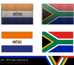 Vector South African Flag