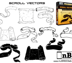 Free Scroll Vector Illustrator Pack