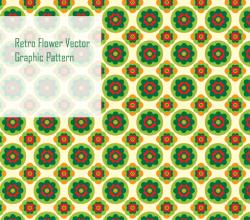 Vector Retro Flower Pattern