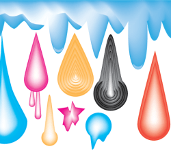 Vector Colorful Drops Illustrator Pack