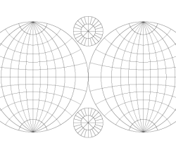Double Hemisphere Map Vector Template