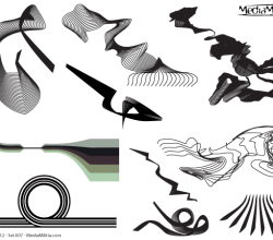 Line Art Design Elements Vector Set-7
