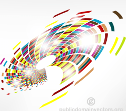 Abstract Colorful Swirl Background Vector