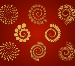 8 Spirals – Free Vector Set