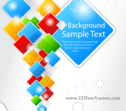 Abstract Square Vector Background
