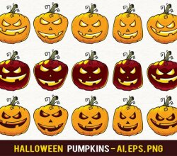 Halloween Pumpkin Jack-O-Lantern Clip Art