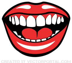 Smiling Mouth Vector Graphics