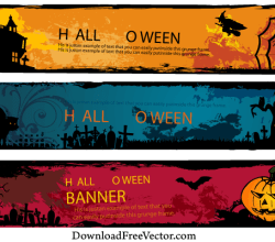 Halloween Banners Vector Free Download
