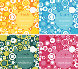 Vector Retro Circles Design Background