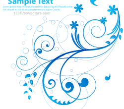 Blue Floral Vector