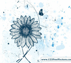 Vector Flower Watercolor Background