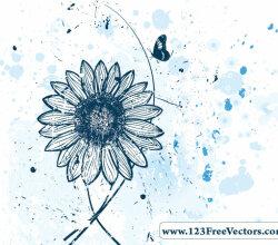 Vector Flower Watercolor Background
