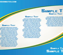 Business Blue Card Print Design Vector