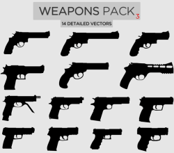 Vector Weapons Pack-3 Pistols