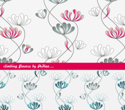 Climbing Flowers – Free Photoshop and Illustrator Patterns