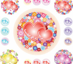 Vectorflowery Hearts