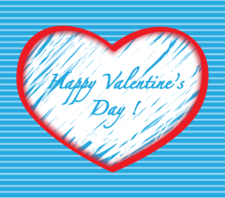 Happy Valentine Day Heart Background Vector Illustration