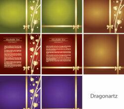 Romantic Invitation Card Design Vector