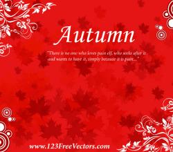 Free Autumn Background Vector