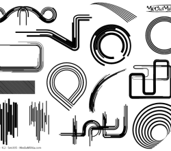 Line Art Design Elements Vector Set-5