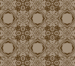 Brown Seamless Floral Wallpaper