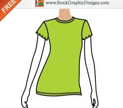 Women's Free Vector T-shirt Template Designs